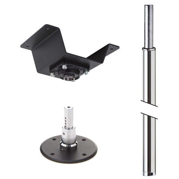 LUPIT POLE -  STUDIO CHAMPION Chrome Finish 45mm PERMANENT ceiling mount
