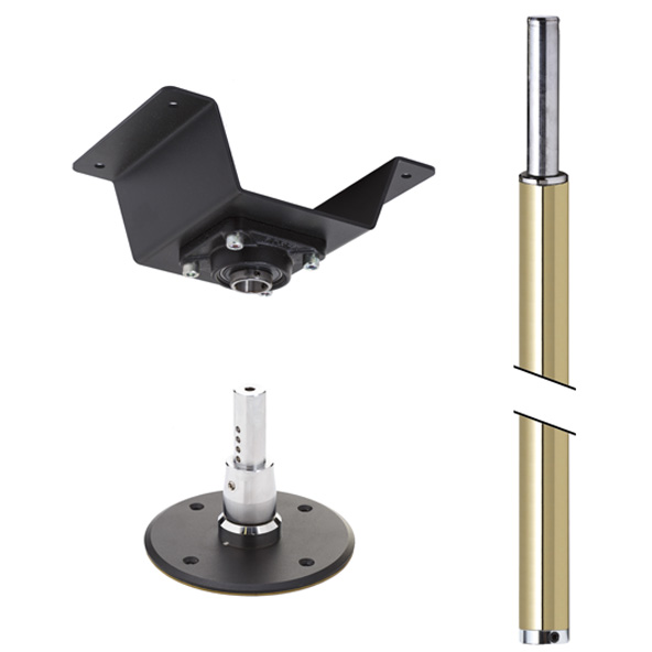LUPIT POLE -  STUDIO CHAMPION BRASS (GOLD) 45mm PERMANENT CEILING mount