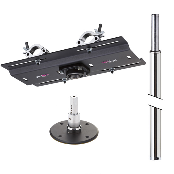 LUPIT POLE -  STUDIO CHAMPION stainless steel 45mm PERMANENT truss mount